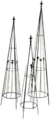 Gardissimo Rankpyramiden 3tlg. 93+113+133 cm Gardissimo anthrazit