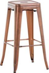 CLP Metall-Barhocker JOSHUA mit Fußstütze Stapelbarer Barstuhl ohne Lehne mit einer Sitzhöhe von: 77 cm In verschiedenen Farben erhältlich