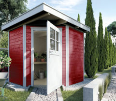 Rode WEKA | Tuinhuis 229 | 205 x 209 cm | Zweeds rood