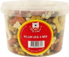 1400 gr 3 ltr Dog treatz kluifjes 4 mix