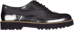 Argento Hogan Scarpe stringate classiche donna in pelle h259 route francesina bucature brogue