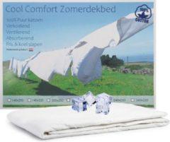 Witte Cool Comfort Zomer Dekbed Ledikant | 100% Puur Katoen | Verkoelend Zomerdekbed | Ventilerend & Absorberend | Fris & Koel Slapen | 100x135 cm