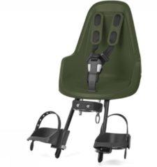 Groene Bobike One Mini Fietsstoeltje Voor - Olive Green