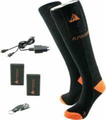 Oranje ALPENHEAT Verwarmde Sokken FIRE-SOCKS RC met afstandbediening KATOEN-Large (AJ26-RC-L)