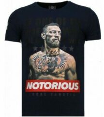 Local Fanatic Conor McGregor - Rhinestone T-shirt - Blauw Conor McGregor - Rhinestone T-shirt - Blauw Heren T-shirt Maat XL