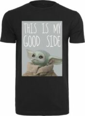 Zwarte Merchcode Star Wars - Mandalonian - Yoda - Baby Yoda Good Side Streetwear - Casual - Modern - Legend - Urban Heren T-shirt Maat M