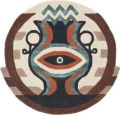 Ted Baker - Zodiac Aquarius 162105 Vloerkleed - 200 cm rond - Rond - Laagpolig, Rond Tapijt - Modern - Meerkleurig