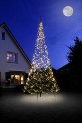 Zwarte Fairybell Vlaggenmastkerstboom met Mast 6 m