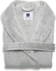 Grijze Zo! Home ZoHome Cara Badjas Lang - Fleece - Maat XL - Pearl Grey