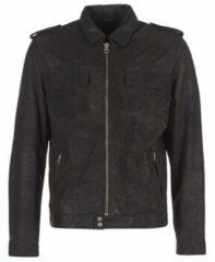 Zwarte Leren jassen Pepe jeans NARCISO