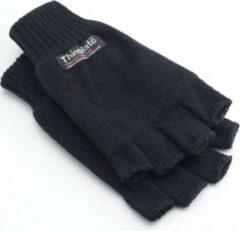 Zwarte Thinsulate vingerloze handschoenen voor dames en heren - Unisex