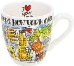 Witte Blond Amsterdam City mini mok New York (Ø8 cm)