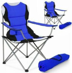 Tectake Stoelenset Luxe Campingstoelen - Blauw;Zwart