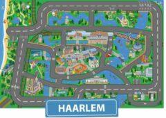 Speelkleed Haarlem City-Play - Autokleed - Verkeerskleed - Speelmat Haarlem