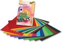 Fotokartonblok Folia 22x33cm, 10 vel, assorti kleuren