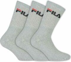 Grijze Fila - Tennis Socks 3-Pack - Unisex - maat 35-38