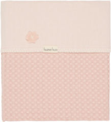 Roze Koeka - Babydekentje - Wiegdeken Flanel/Wafel Antwerp - 100x75 - Shadow Pink/Light Shadow Pink