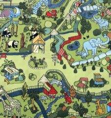 Sens Kids Rugs Safari kindervloerkleed - kindertapijt - 100 x 200 cm - wasbaar - zacht - duurzame kwaliteit - speelgoed