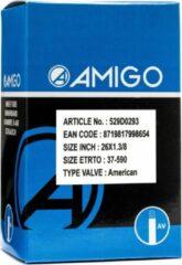 Zwarte AMIGO Binnenband 26 x 1 3/8 (37 590) AV 48 mm