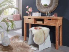 Wohnling Konsolentisch MUMBAI Massivholz Akazie Kommode 115 cm Design Konsole mit Schubladen und Ablage Anrichte Landhaus