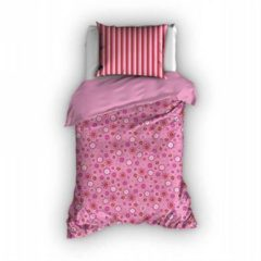 Roze Duimelot Sterre kinder dekbedovertrek - Fuchsia - Junior (120x150 cm + 1 sloop)