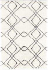 Impression Rugs Design Hoogpolig vloerkleed Pearl - Wit / Grijs - 200 x 290 cm