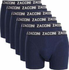 Blauwe Zaccini 6 boxershorts navy-M