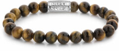 Rebel & Rose Rebel and Rose RR-80042-S Rekarmband Beads Tiger Lily zilverkleurig-bruin 8 mm XL 21 cm