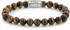 Rebel & Rose Rebel and Rose RR-80042-S Rekarmband Beads Tiger Lily zilverkleurig-bruin 8 mm XL 21 cm