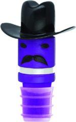 E-my Flessenkurk Hoeden Sir Cowboy Paars/zwart