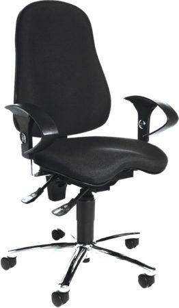 Afbeelding van Zwarte Topstar Sitness 10 - Bureaustoel - Orthopedisch - Zwart