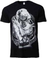 Zwarte Marilyn Monroe Shirt – Gangsta Thug Life mannen maat S