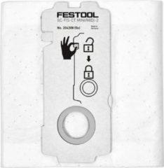 Witte Festool, SELFCLEAN filterzak SC-FIS-CT MINI/MIDI-2/5/CT15 voor CT MINI en CT MIDI vanaf bouwjaar 2019 en CT 15 Bestelnummer 204308