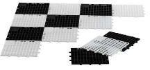 Witte Rolly Toys schaak en damveld 15 cm zwart/wit 64 delig