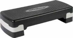Zwarte Physioni Aerobic step, fitness step, tot 200 kg belastbaar, hoogte 10-15 cm