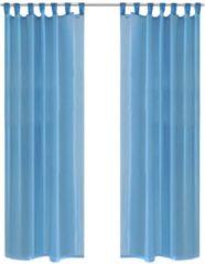 VidaXL - Kant en klaar gordijn - Turquoise - 140x225 cm - 2 stuks