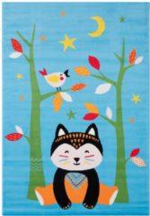 Impression Bambino Bambo Kinderkamer Vloerkleed Blauw Laagpolig - 80x150 CM