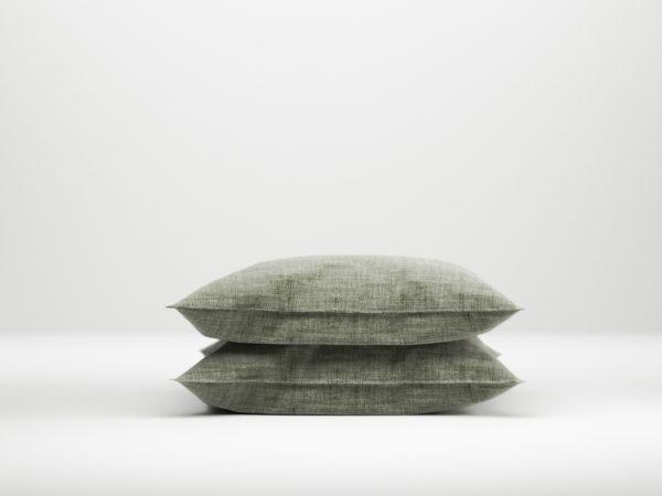 Afbeelding van Zo Home Lino Kussensloop Linnen Look - army groen 60x70cm