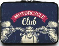 Case2go Universele Laptop Sleeve - 15.6 inch - Motorcycle Club