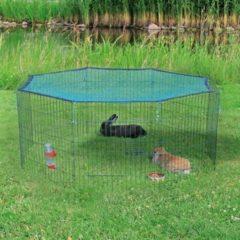 Groene TRIXIE Buitenverblijf kleine dieren + beschermnet 60x57 cm groen 62411