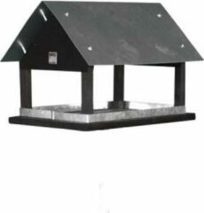 Grijze Plant&More-Houten vogelhuisje/nestkastje -Vogelbescherming