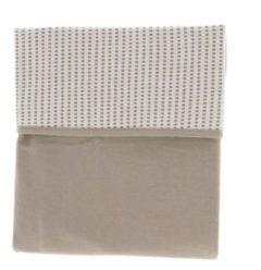 Snoozebaby ledikant deken van organic katoen - 100x150cm - T.O.G. 1.0 -Warm Brown bruin