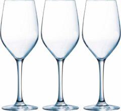 Arcoroc 12x Stuks wijnglazen transparant 270 ml - Wijnglas voor rode of witte wijn op voet
