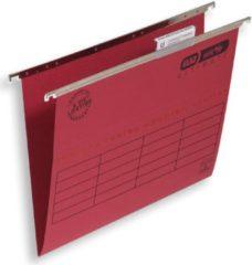 Rode ELBA Hangmappen Ultimate A4 Rood Karton V-bodem 23 5 x 33 cm 25 Stuks