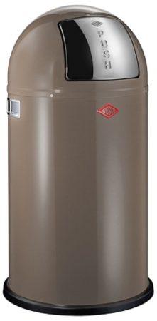 Afbeelding van Grijze Prullenbak Pushboy - Warm Grijs - 50 liter - Wesco