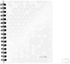 Noitieboek Leitz WOW A5 lijn spiraal PP wit