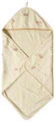 Beige Taftan - Hello World - Badcape dubbel laags 75 x 75 cm