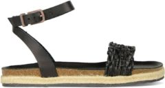 Fred de la Bretoniere Sandalen Espadrilles Sandal Natural Dyed Zwart Maat:37