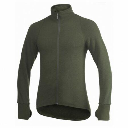 Afbeelding van Woolpower - Full Zip Jacket 400 - Wollen jack maat 3XL, zwart/olijfgroen