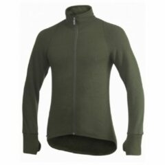 Woolpower - Full Zip Jacket 400 - Wollen jack maat 3XL, zwart/olijfgroen